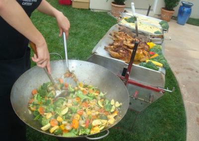 vegetables preparation on-site