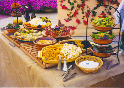Mexican Fiesta vegetables buffet