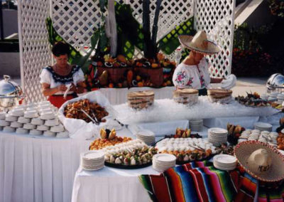 Mexican catering decoration