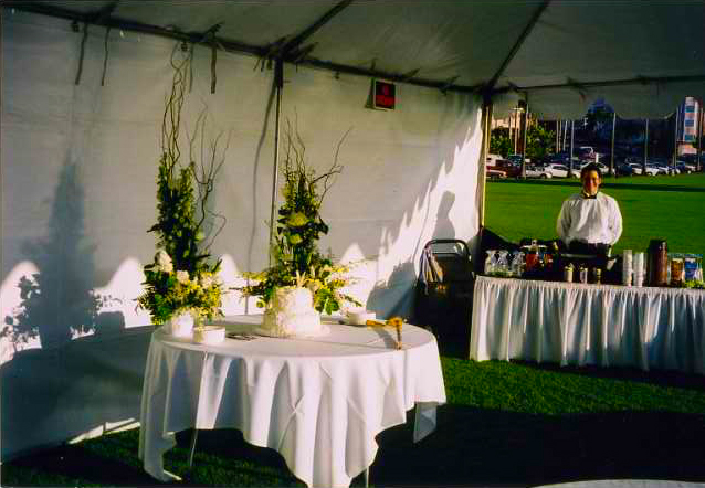 caterer at work