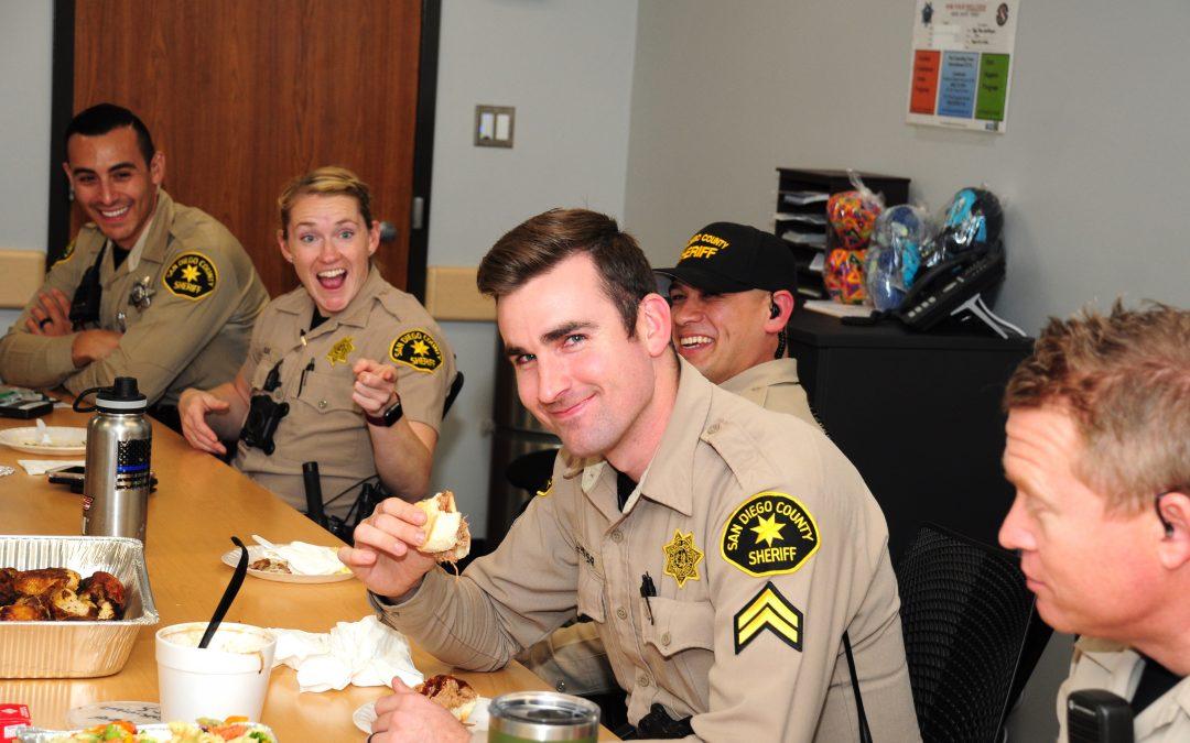 Sheriff Christmas day meal